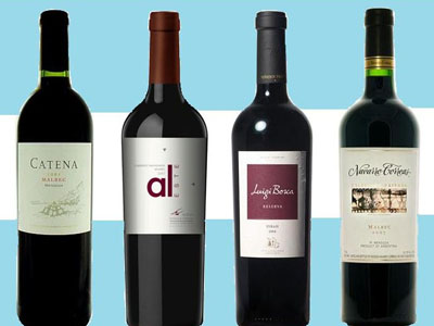 Argentinian wines and flag