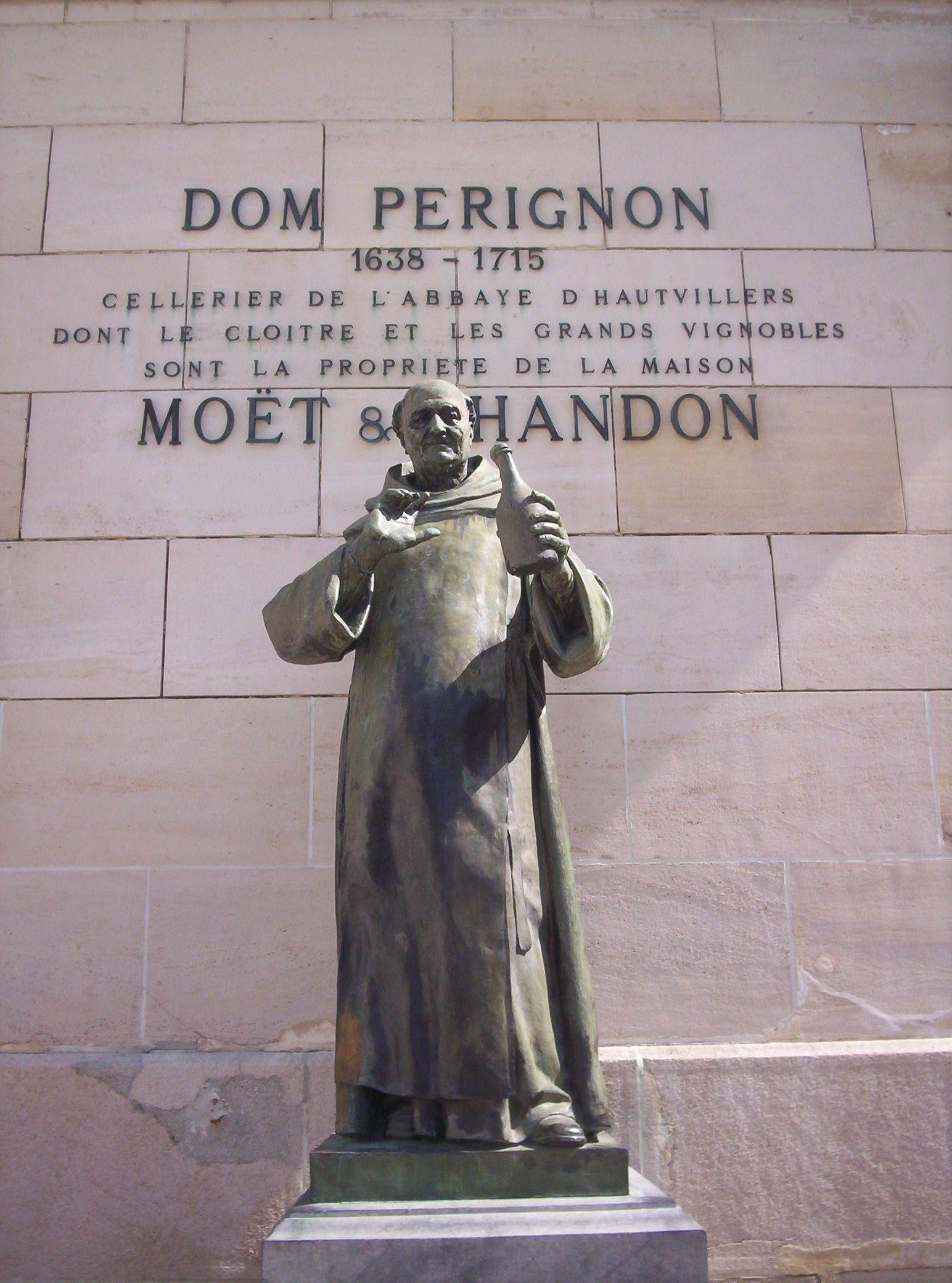 Dom Perignon Statue, Champagne