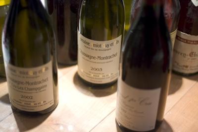 French wine bottles